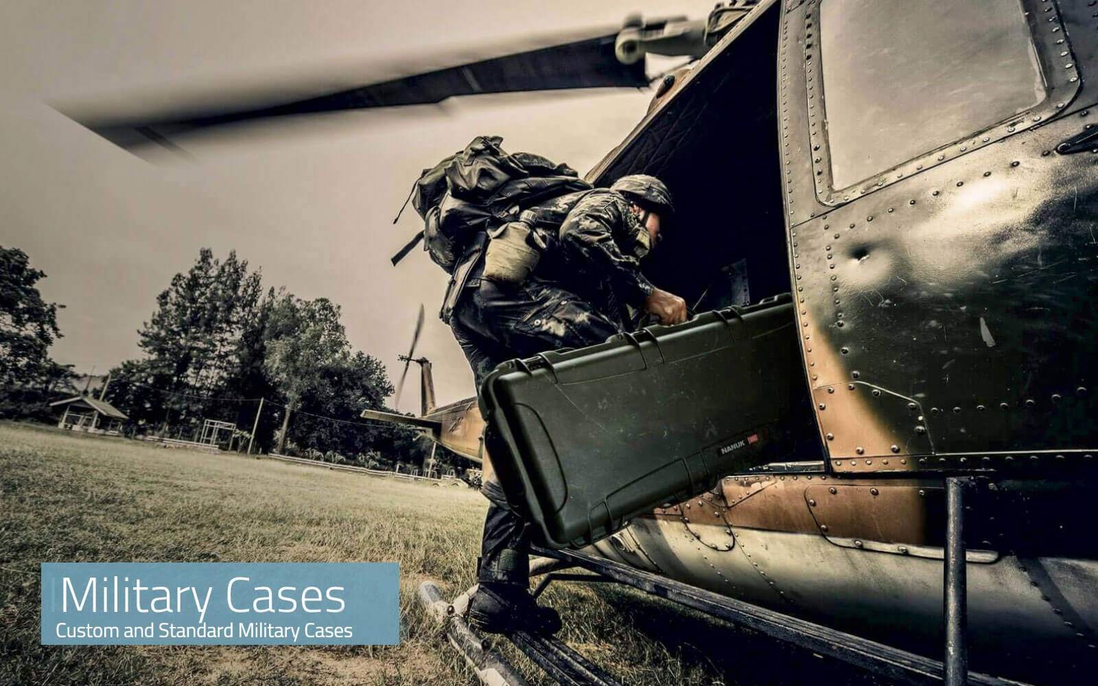 High end cases for military equipment.